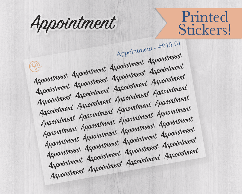 Appointment Planner Stickers Appointment Tracking Planner Stickers Muted RainbowAppointment Reminder Labels #911-002-068XL-WH