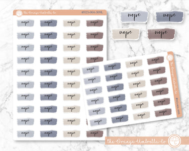 Watercolor Rescheduled Planner Stickers #923-002-303L-WH January to April ECLP Colors NOPE Stickers Cancelled Stickers