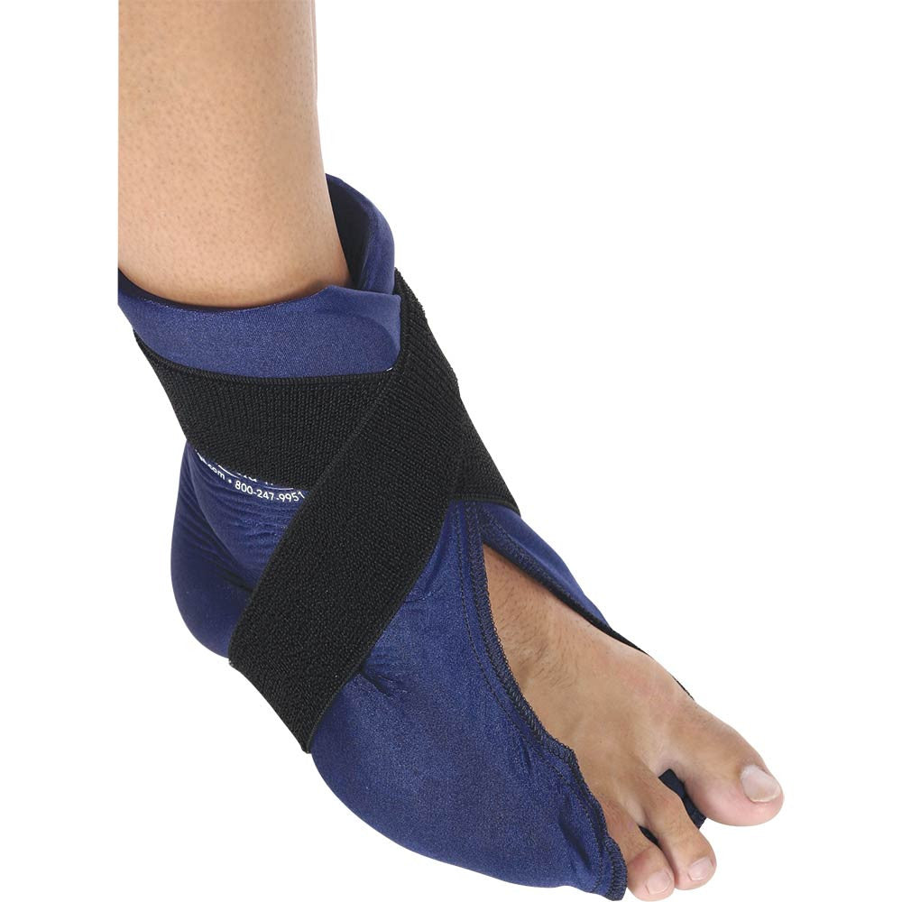 ELASTO GEL HOT/COLD FOOT/ANKLE WRAP FLEXIBLE MICROWAVEABLE
