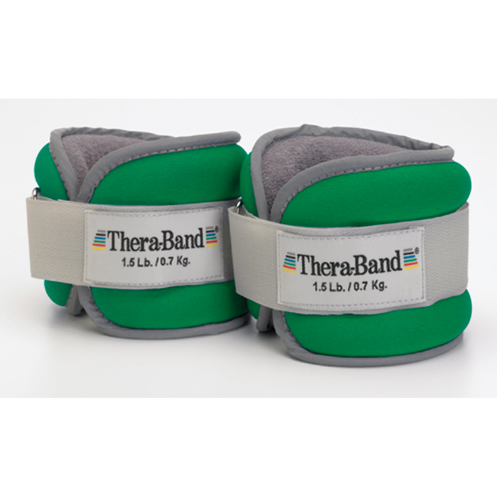 THERA-BAND(R)(R) COMFORT FIT ANKLE & WRIST WEIGHT SET GREEN 3 LB. (TWO 1.5-LB. WEIGHTS)