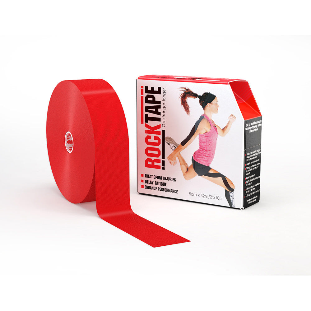 "ROCKTAPE 2"" X 105' ROLL RED"