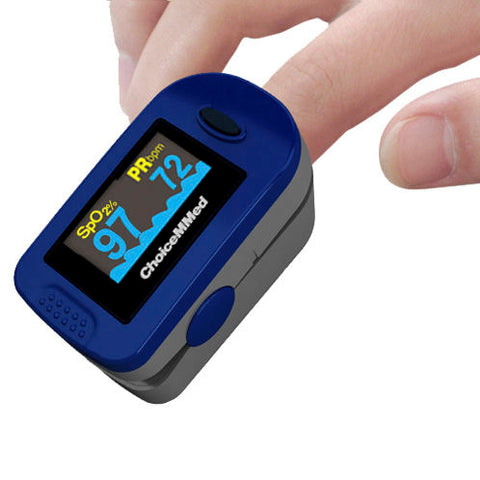 Fingertip Pulse Oximeter with 2 AAA Batteries Adult/Child/Infant