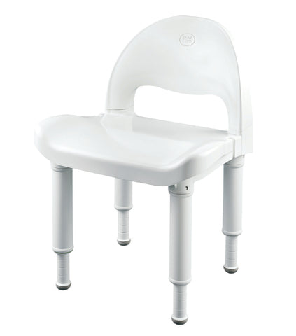 Moen Shower Chair, w/Handles, Tool-Free, Adjustable