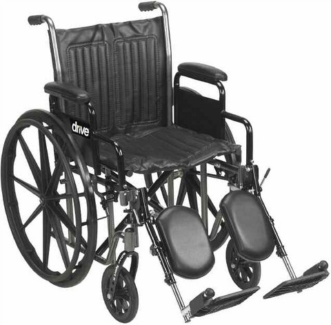 Dual Axle Wheelchair with Detachable Desk Arms and Choice Between Footrests or Elevating Leg rests