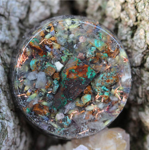 Cosmic Fingerprint Orgonite® Assorted Pendants.