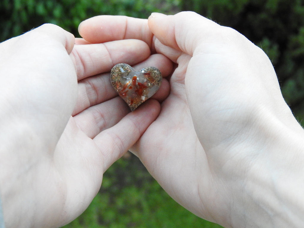 Sweet Hearts. Fingerprint Orgonite®. Gifting Project Packages