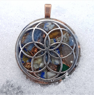 Cosmic Fingerprint Orgonite® Assorted Seed of Life Pendants.