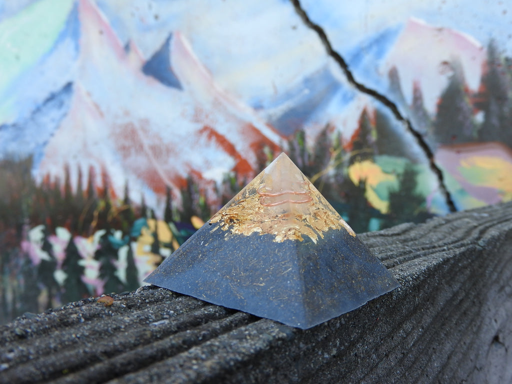 "Custom Small 1.75"" Fingerprint Orgonite® Pyramid. (Made to Order) Room Size Pyramid."