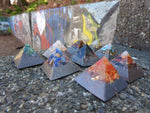 Fingerprint Orgonite® Personal Micro Pyramid. (Assorted Gemstones)