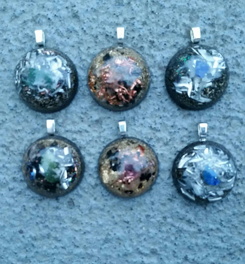 Galaxy Fingerprint Orgonite® Pendants. Assorted