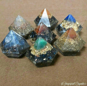 "Assorted 1"" Orgone Gem. Fingerprint Orgonite©"