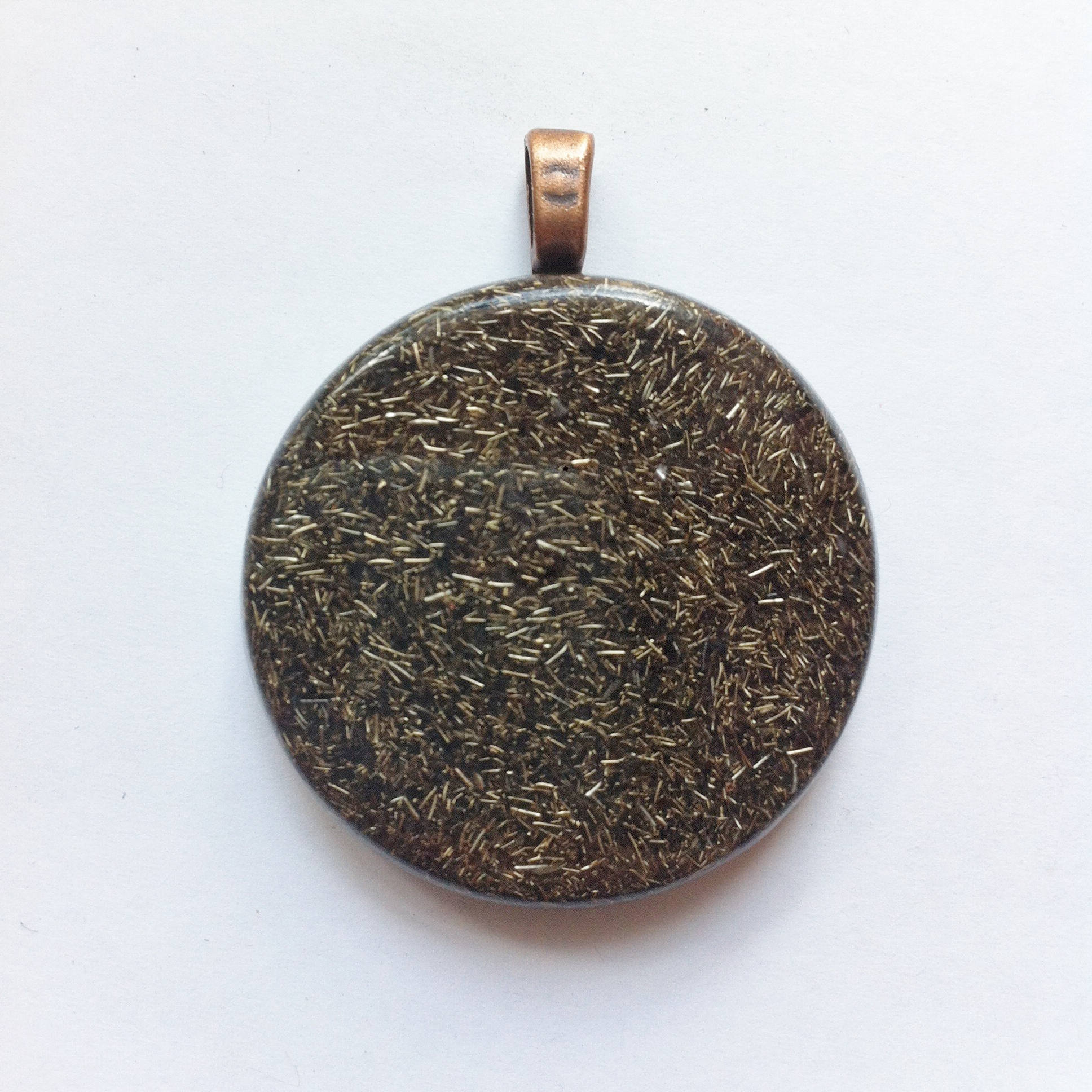 Plain & Simple - Fingerprint Orgonite © - Orgone Pendant ~ Everyday Protection
