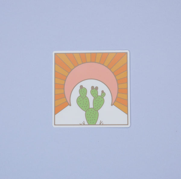 Golden Prickly Pear Sticker