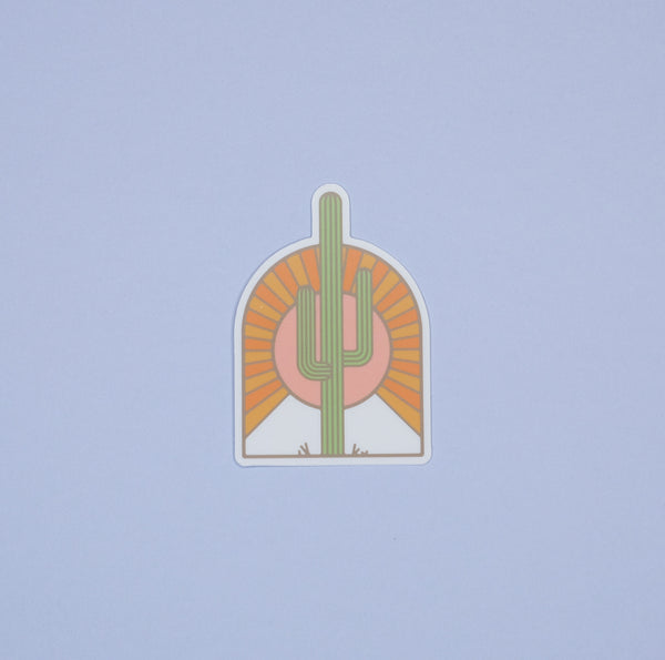 Golden Saguaro Sticker