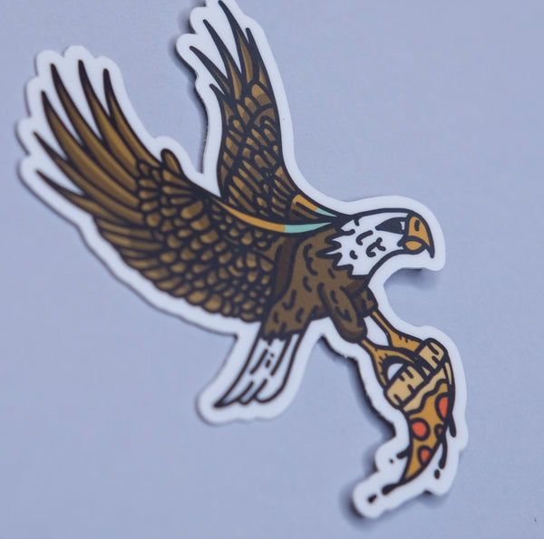Pizza Eagle Sticker