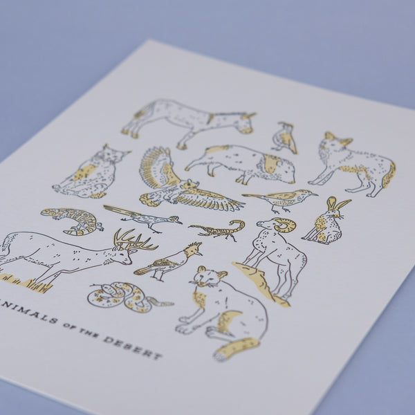 Desert Animals Print