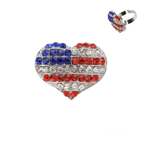 Americana Heart Fashion Ring