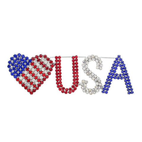 Americana Heart USA Fashion Pin