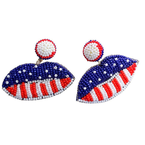 Americana Lips Earrings