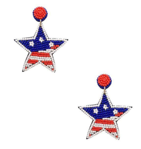 Americana Star Earrings