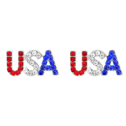 Americana USA Rhinestone Earrings