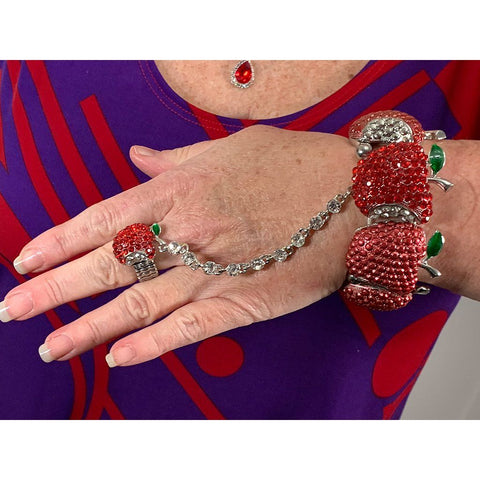 An Apple a Day Bracelet & Ring