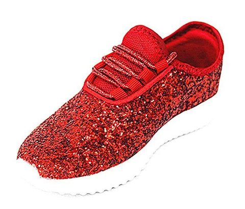 Angel Glitter Tennis Shoes