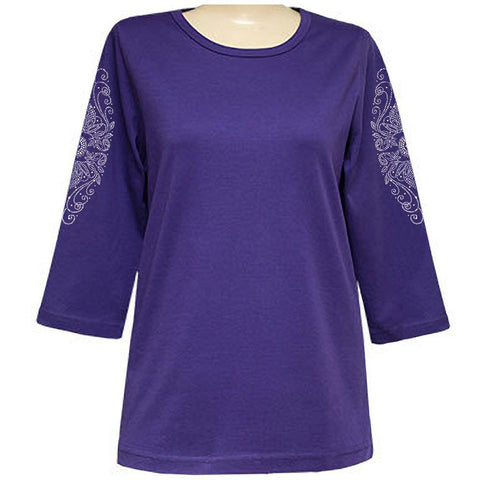 Antionette Clarice 3/4 Sleeve Classic Scoop Shirt