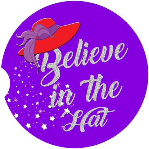 Believe in The Hat Car Coaster