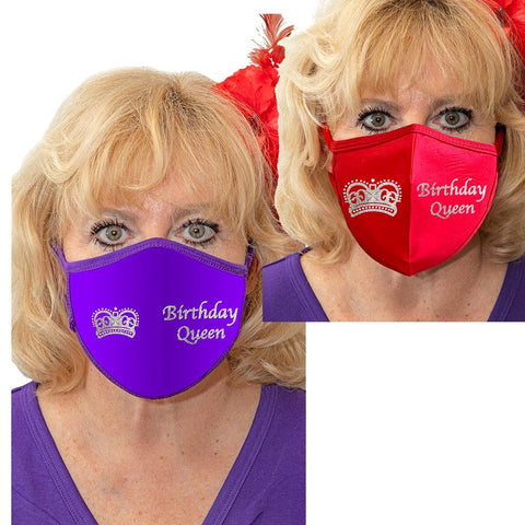 Birthday Queen Solid Color Face Mask