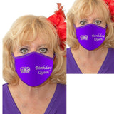 Birthday Queen Solid Color Face Mask Accessories Daniali P/P Set