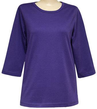 Blank 3/4 Scoop Purple or Red Classic Shirt