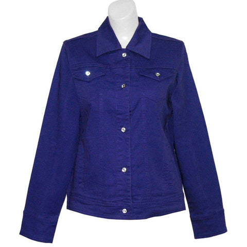 Blank Classic Purple or Red Denim Jacket