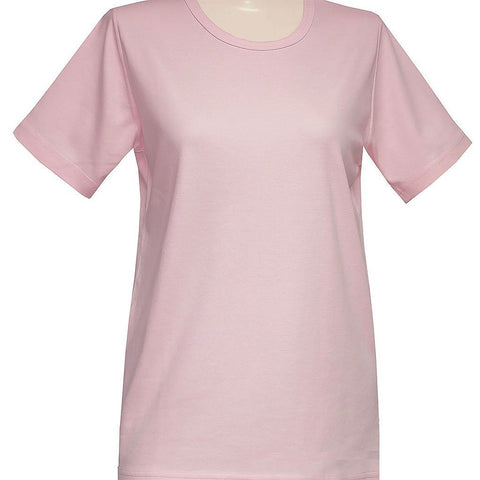 Blank Short Sleeve Pink or Lavender Classic Scoop