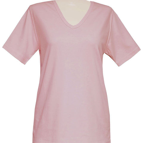 Blank Short Sleeve Pink or Lavender V-Neck Classic Shirt