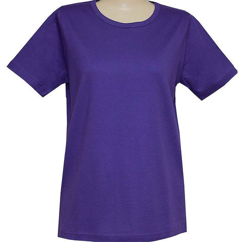 Blank Short Sleeve Purple or Red Classic Scoop