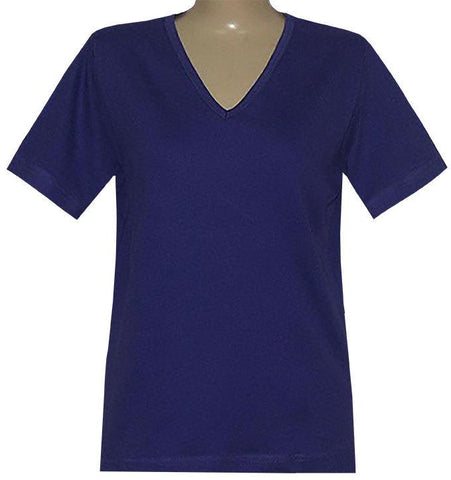 Blank Short Sleeve Purple or Red V-Neck Classic Shirt