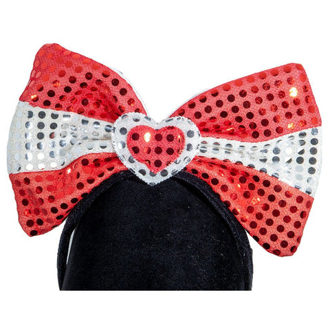 Bow with Heart Blinking Headband