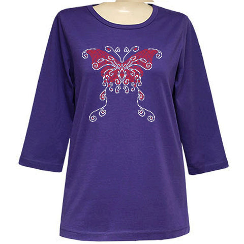 Brenna Butterfly 3/4 Sleeve Scoop Classic