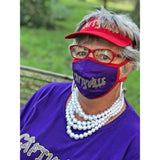 Caftyville Face Mask Accessories Daniali Purple/red mask bag set