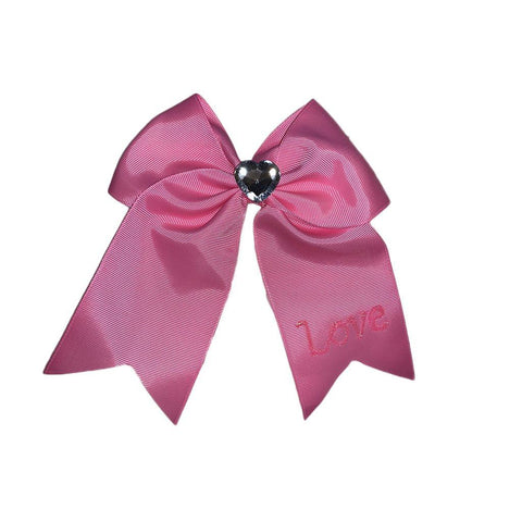 Love Ribbon Heart Bow Hair Clip