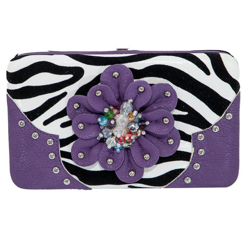 *Cowgirl Flower Leatherette Wallet