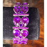 Demi Stretch Bracelet Jewelry REZO Culture Trading, INC. Purple