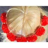 *Fabiana Floral Head Chain w/Pearls Fascinator HND Wholesale
