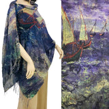Famous Art Design Shawls Accessories/Shawl magic Scarf COTTON TOUCH Art Design SH:LARTB-03