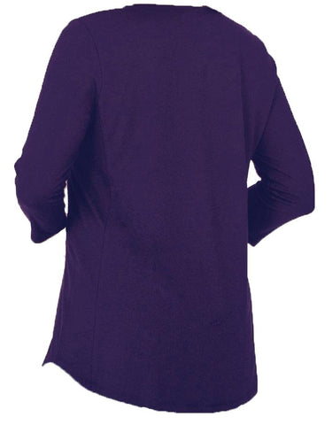 Fancy Nancy Blank Zipper V Neck Tunic