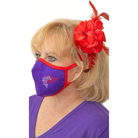 Feather Red Hat Face Mask
