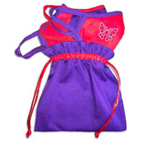Feather Red Hat Face Mask Bag Accessories/Handbag Daniali Blank