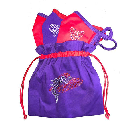 Feather Red Hat Face Mask Bag