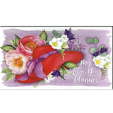Floral Red Hat Pocket Planner Stationery It Takes Two